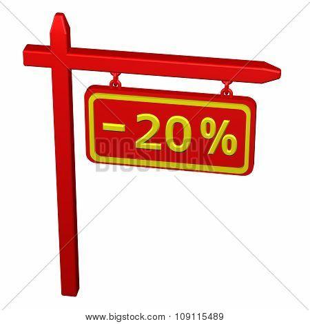 Pillar With Sign Discount - 20 %