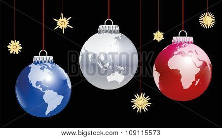 Christmas Balls Globe World