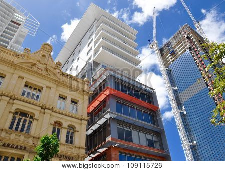 Perspective of City Buildings in Perth