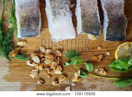 Raw zander fillets