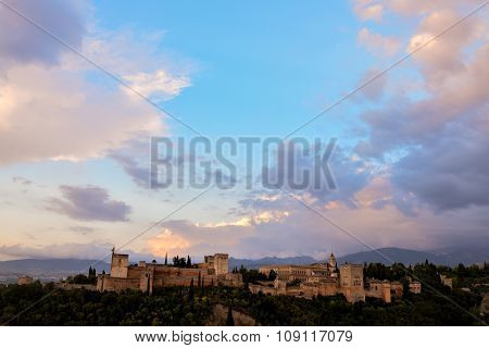 View of the Historical City Granada