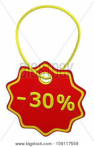 Discount - 30 % Tag