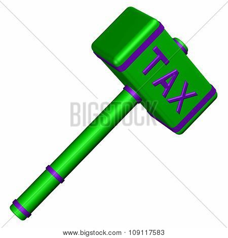 Hammer With Word Tax