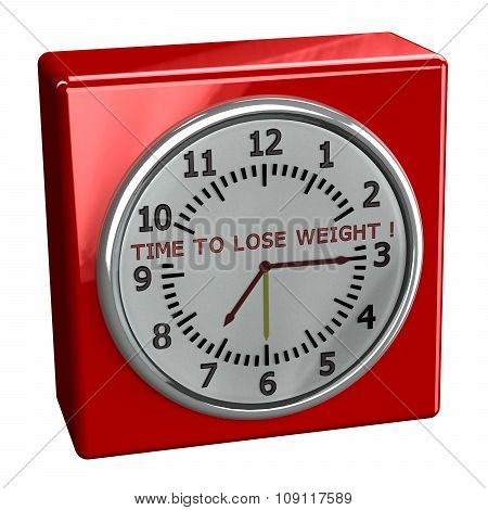 Red Watch With Words Time To Lose Weight