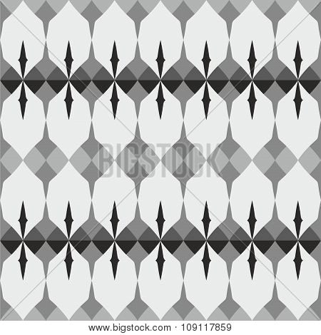 Tile grey, black and white vector pattern