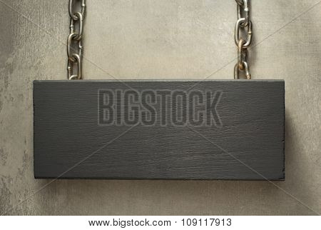 hanging signboard board with metal chain