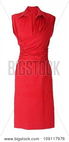 red dress isolated on white