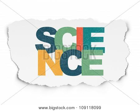 Science concept: Science on Torn Paper background