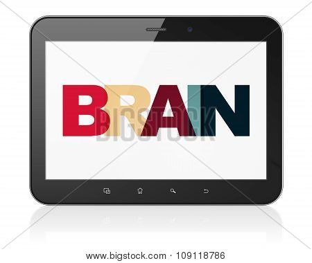 Healthcare concept: Tablet Computer with Brain on  display