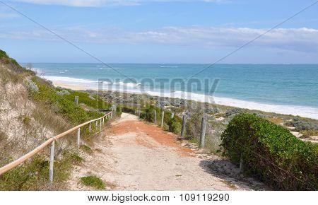 Pathway Through Coastal Dunes: Indian Ocean