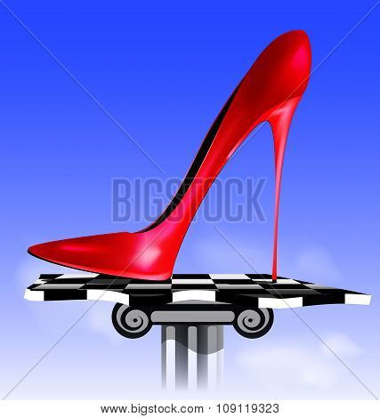 abstract image of red shoe