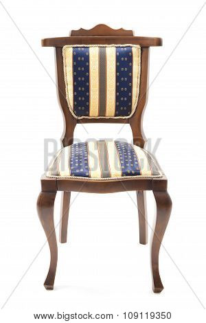 Retro Chair With Striped Upholstery.psd