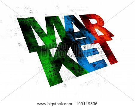 Marketing concept: Market on Digital background
