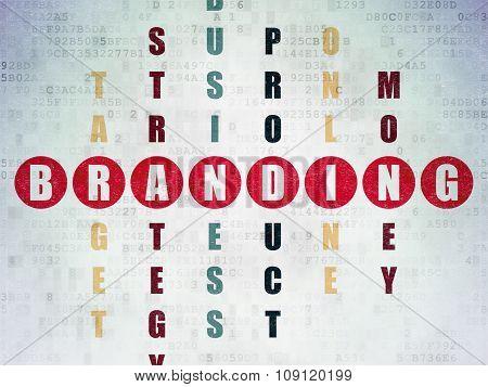 Advertising concept: Branding in Crossword Puzzle