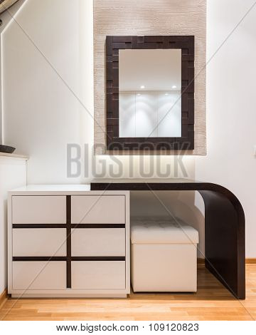 Dressing Table In Modern Bedroom