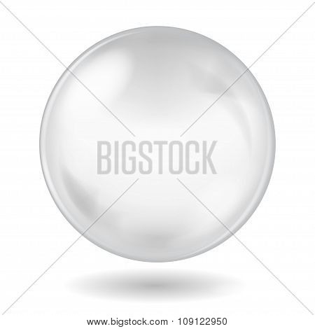 Big White Opaque Glass Sphere