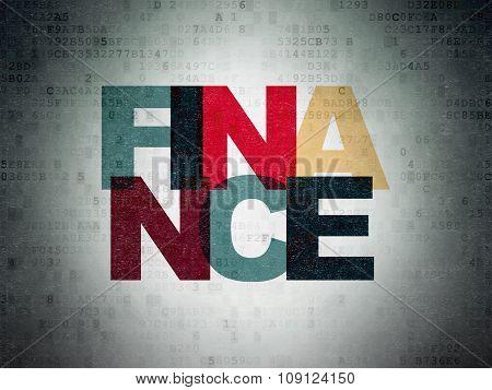 Money concept: Finance on Digital Paper background