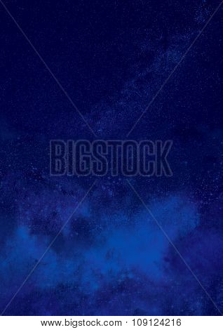Blue Starry Christmas Background