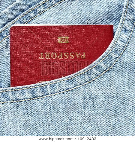 Red Biometric Passport