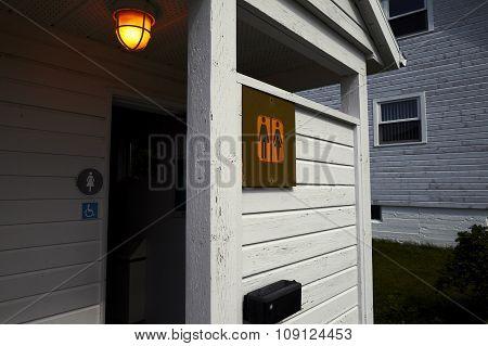 Toilet In Little Wood House
