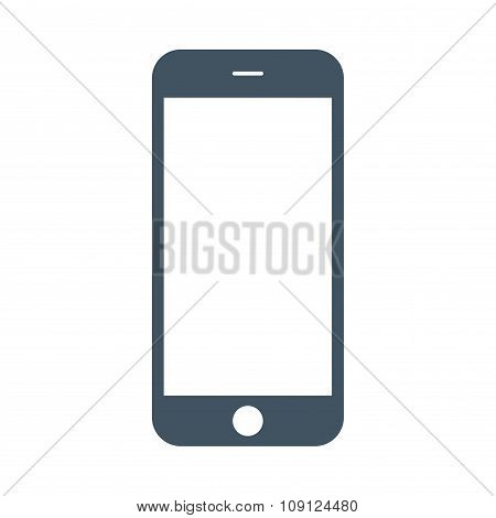 Smartphone Icon On The White Background. Stock Vector Illustration Eps10