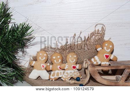 Cookies In The Shape Of A Little Man