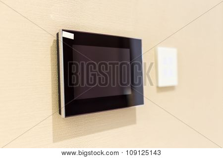 isolated monitor on wall