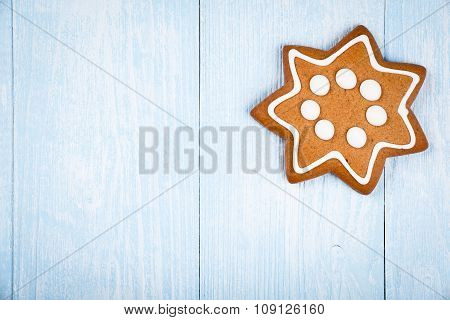 Christmas Star-shaped Cookie Gingerbread
