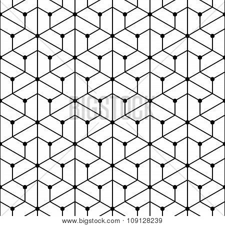 Vector modern seamless geometry pattern grid black and white abstract