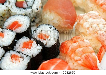 Japonese Sushi Seafood And Other