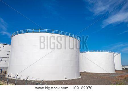Gas storage tanks in Reykjavik