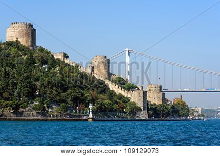 Rumelian castle and the Bosphorus