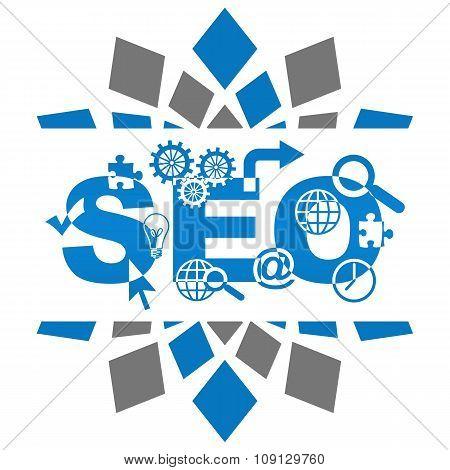 SEO Blue Grey Squares Elements