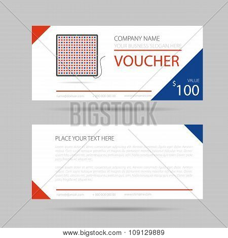 Template business voucher phytolamp