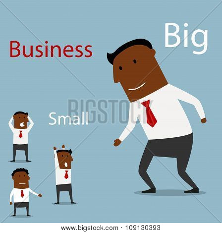 Partnership between big and small business