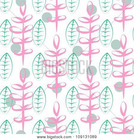 Foliage vector seamless pattern.