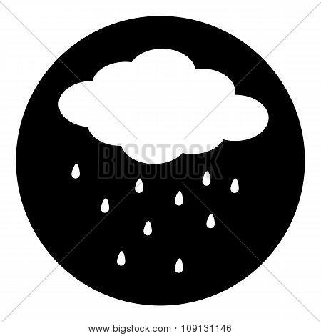 Cloud Icon With Rain.