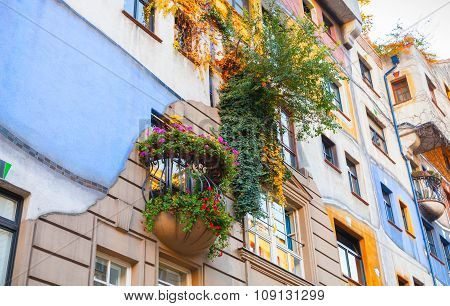 Hundertwasser House, Facade Fragment, Vienna