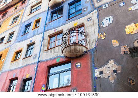 Facade Of Hundertwasser House, Vienna