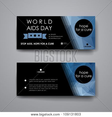 Set of modern design banner template in World AIDS Day style