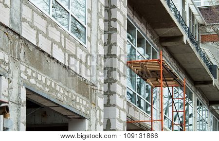 Facade Of The Building During The Construction Phase