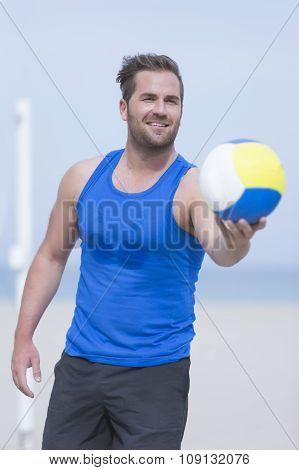 Beach Volleyball Player Portrait.