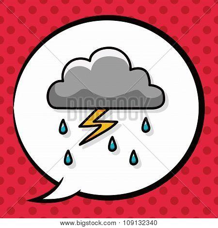 Rainy Cloud Doodle