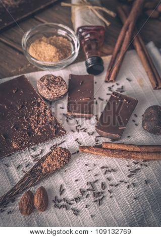 Ingredients for dessert preparation