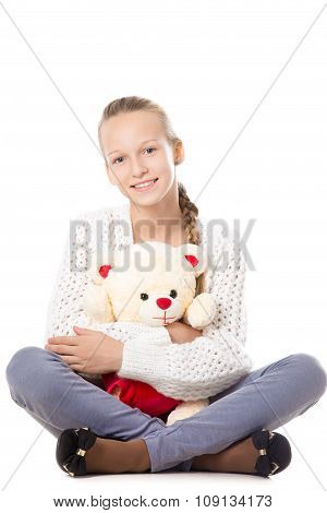 Girl With Stuffed Toy