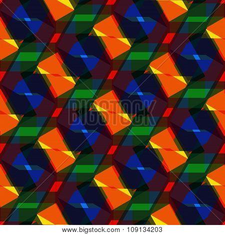 Seamless Vector Pentagon Background