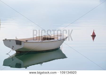 The image of boat on the sea
