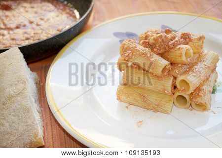 Pasta With Tomato Sauce And Ricotta