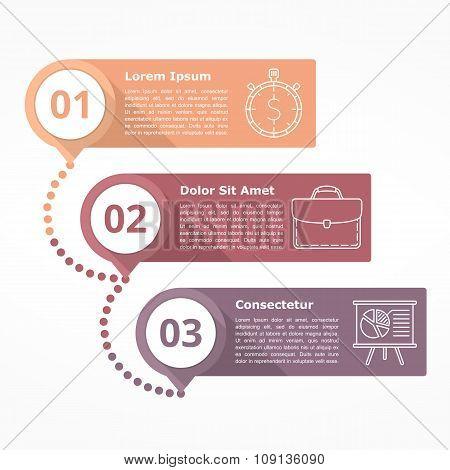 Three Steps Diagram