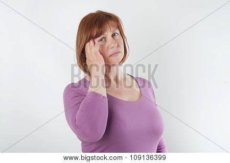 The Woman Has A Headache..